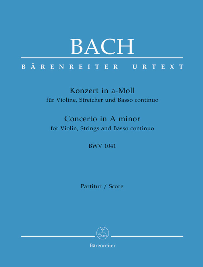 BA5189 - Concerto for Violin in A minor (BWV 1041) Score Default title