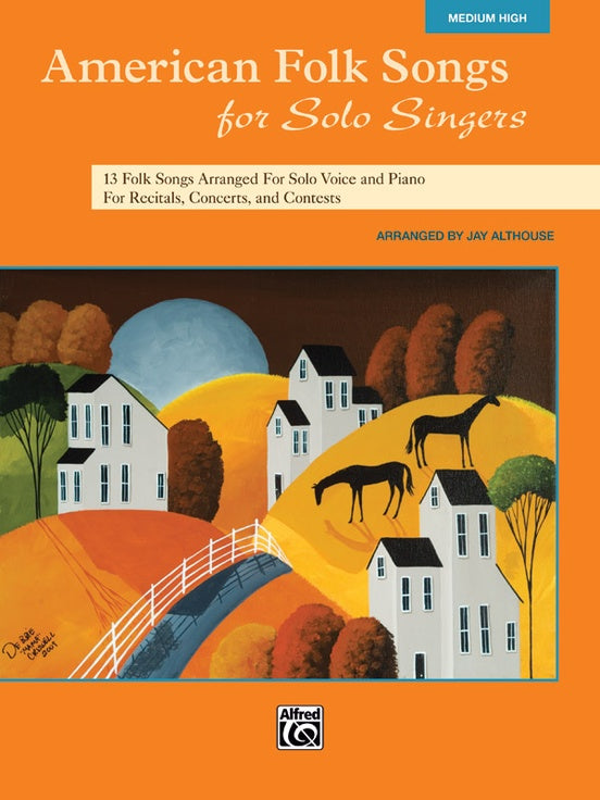 ALF35562 - American Folk Songs for Solo Singers Medium High Default title