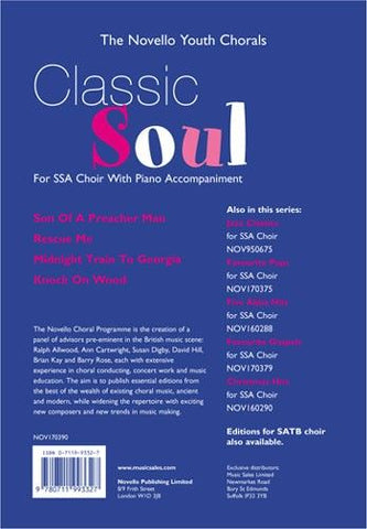 NOV170390 - The Novello Youth Chorals: Classic Soul SSA Default title