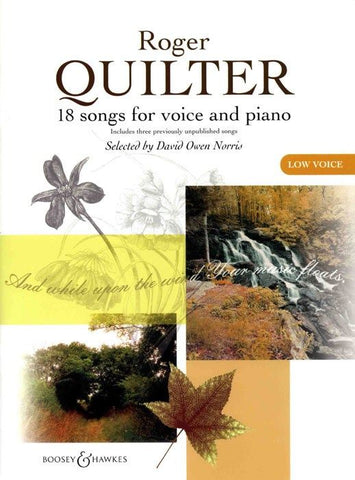 M060115622 - 18 songs for low voice and piano Default title