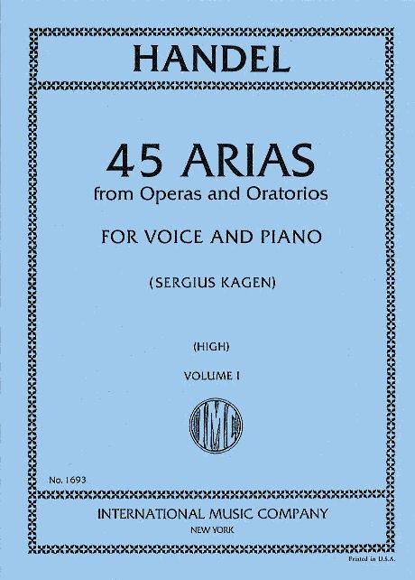 IMC1693 - 45 Arias From Operas and Oratorios Volume 1 High Voice Default title