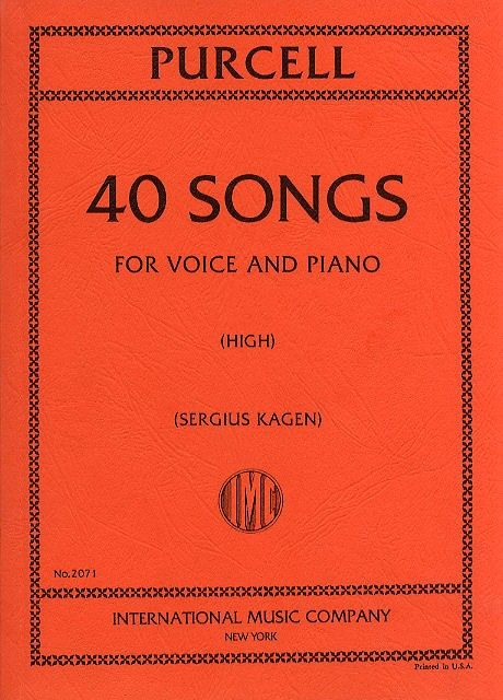 IMC2071 - Purcell 40 Songs High Voice & Piano Default title