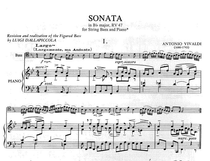 IMC2302 - Vivaldi Sonata Bb major Double Bass & Piano Default title