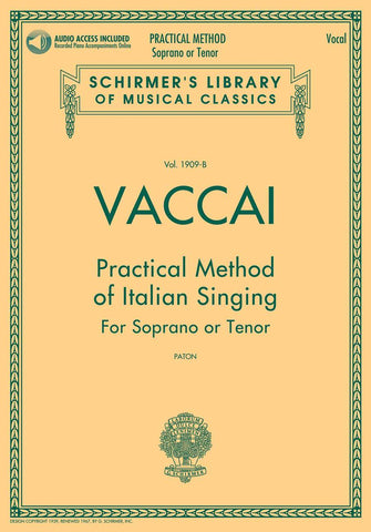 LIB1909-B - Practical Method of Italian Singing - for Soprano or Tenor Default title