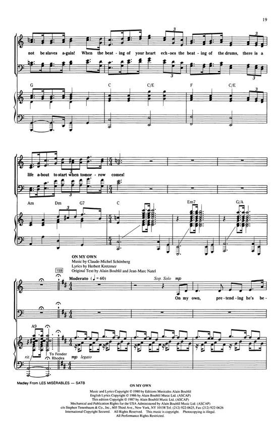 AM79971 - Les Miserables - Medley (SATB) Default title