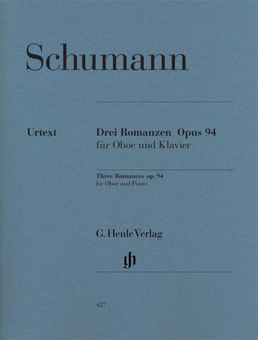 HN427 - 3 Romances for Oboe and Piano op 94 Default title