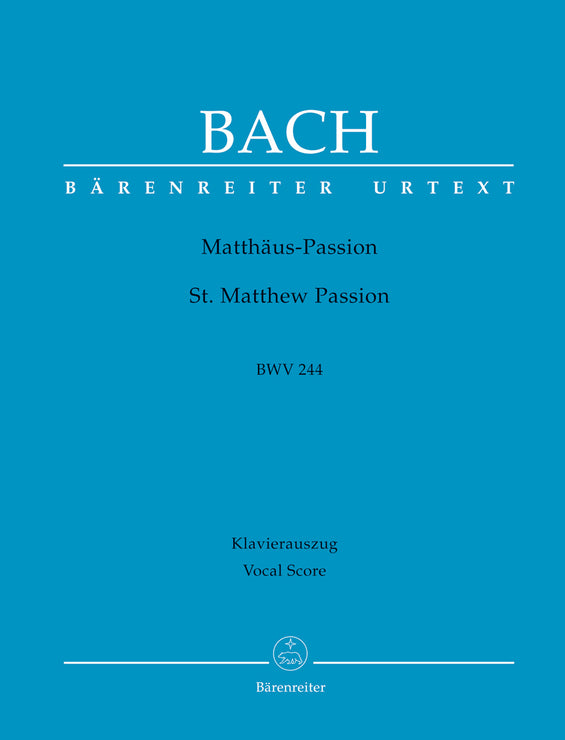 BA5038-90 - Bach St Matthew Passion Urtext Vocal Score Default title