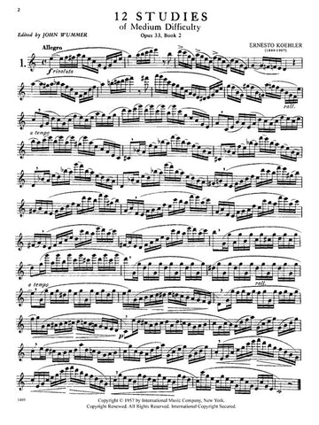 IMC1469 - 12 Studies Opus 33 (Book 2 of Progress In Flute Playing) Default title