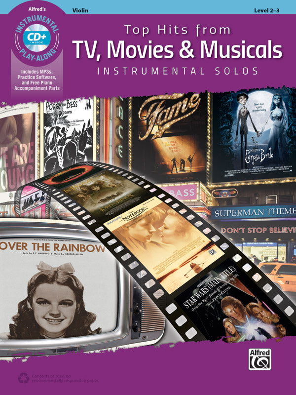ALF45186 - Top Hits from TV, Movies & Musicals Instrumental Solos for Violin Default title