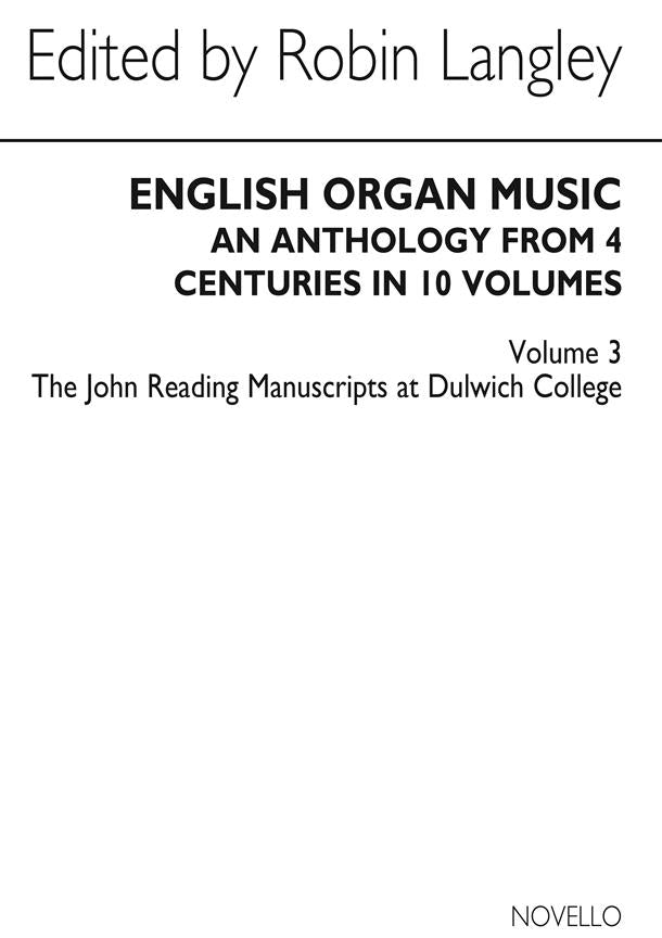 NOV010193 - English Organ Music Volume 3 Default title