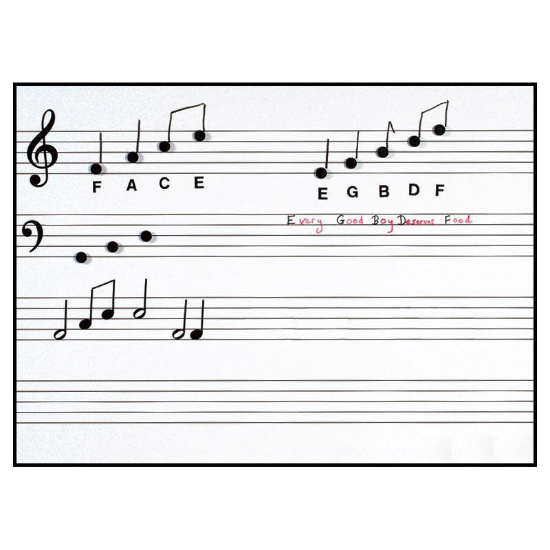 PS05 - Write n Wipe pre printed music stave wall poster with pen Default title