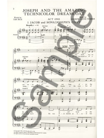 RUG37234 - Joseph and the Amazing Technicolor Dreamcoat - full vocal score Default title