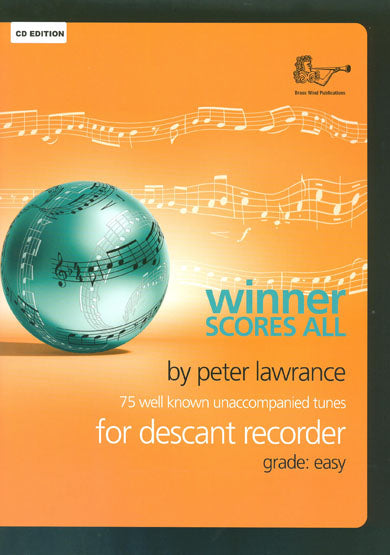 BW0322CD - Winner Scores All for Descant Recorder with CD Default title
