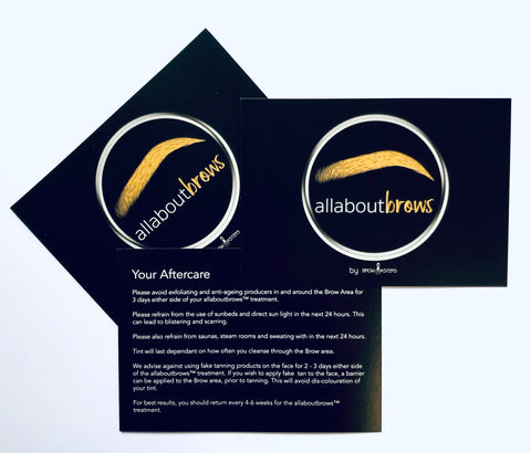 allaboutbrows Customer Aftercare cards (100 pack)