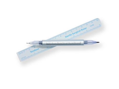 Double-ended Medical Marker with Flexible Ruler