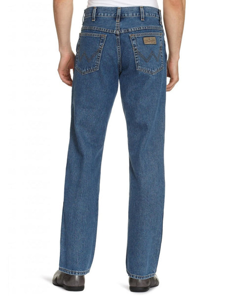 Wrangler Mens Texas Regular Fit Zip Fly Jeans Stonewash