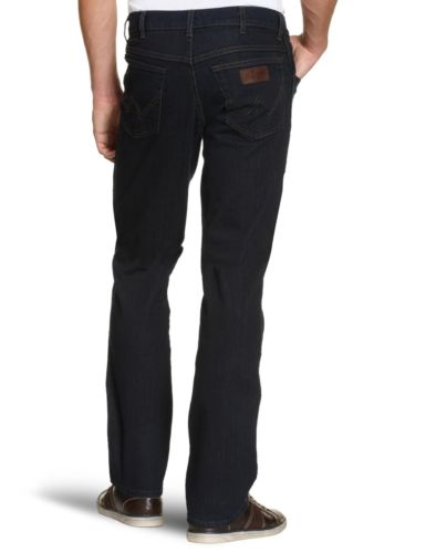 Wrangler Mens Texas Stretch Regular Fit Jeans Blue Black