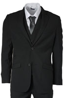Mens Designer Voet Suit Cruz Black 3 Piece Work, Wedding or Party Work Suit