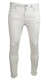 Mens LCJ Denim Stone Beige Super Skinny Fit Stretch Jeans
