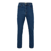 Mens Kam Jeans KBS101-01 Stretch Regular Fit Jeans Stonewash Size 40 To 48