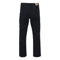 Mens Kam Jeans KBS150-06 Regular Fit Jeans Black Size 40 To 60