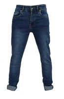 Boys Skinny Jeans Stretch Slim Classic Blue Wash  Ages 7 to 15