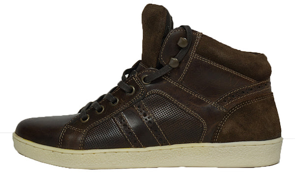 Red Tape Manley Brown Lace Up Mens Leather - Suede Trainers