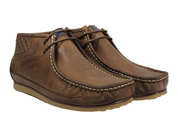 Deakins Mens Company Lace Up Boots Coffee