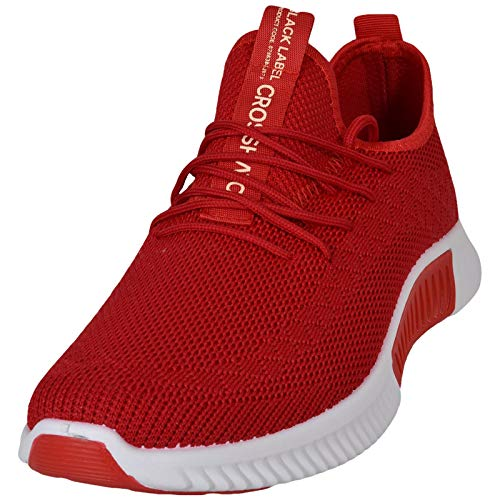 Crosshatch Mens Rideout Lightweight Trainers Red