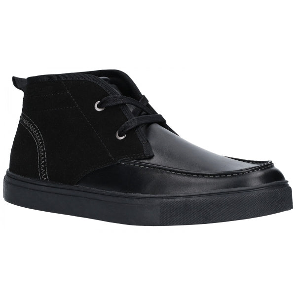Lambretta Mens Chukka Lace Up Ankle Boots Black