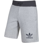 Adidas Mens Sport Ess Fleece Shorts Light Grey