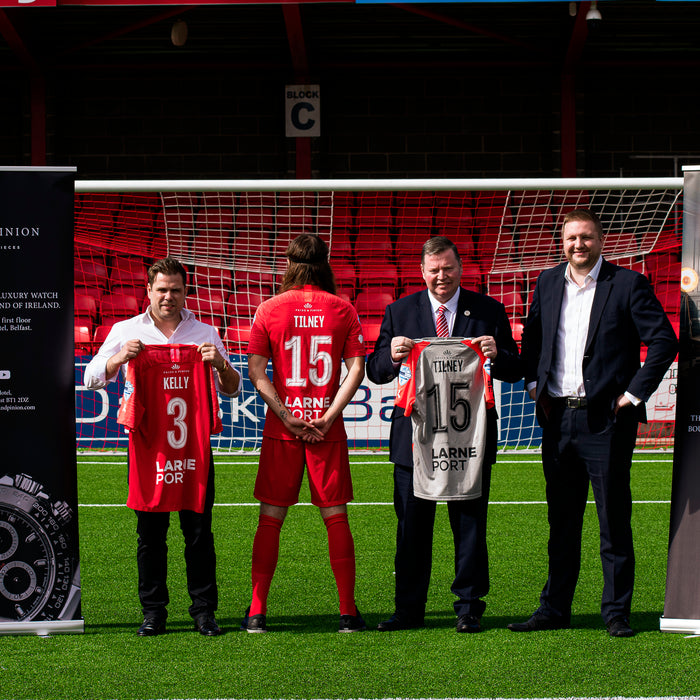 We are proud sponsors of Larne Football Club