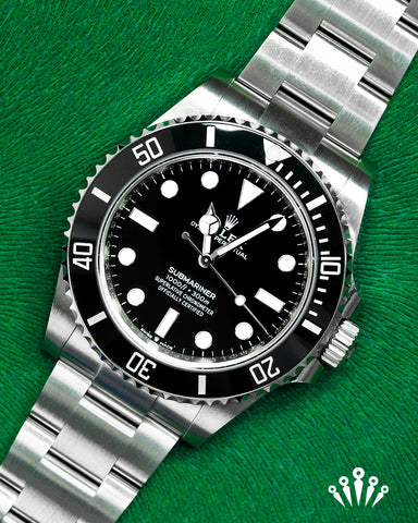 Rolex, Submariner, black dial, no date, Pride and Pinion