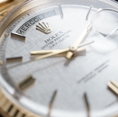 Rolex Day-Date Wide Boy Champagne Dial Watch dealer Belfast