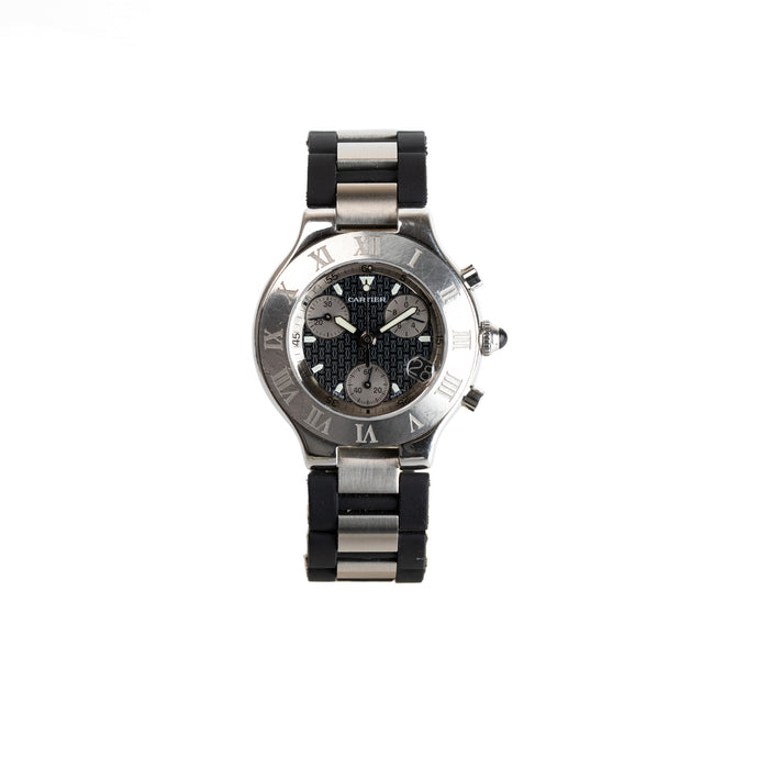 discontinued Cartier Chronoscaph 21. Chronograph Belfast watches