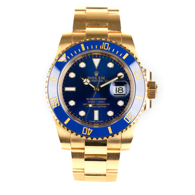 Rolex Submariner Date solid gold & sunburst blue