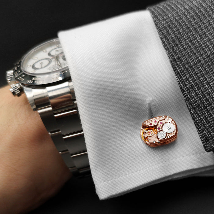 Omega Rectangle Watch Cufflinks