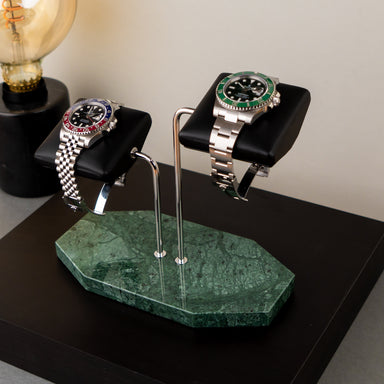 Pearl Verde Watch Stand – Two Watches