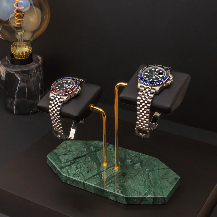 Royal Verde Watch Stand – Two Watches