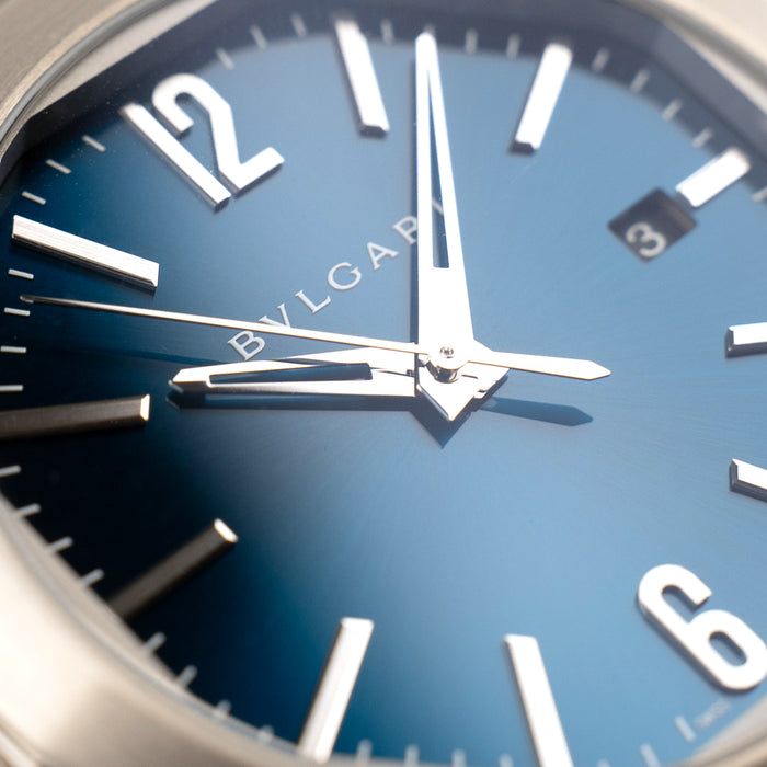 Bvlgari Octo Roma Blue turquoise dial Belfast watch