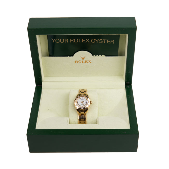 Rolex Ladies Oyster Datejust Pearlmaster