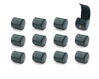British Racing Green Single Watch Roll - 12 Pack