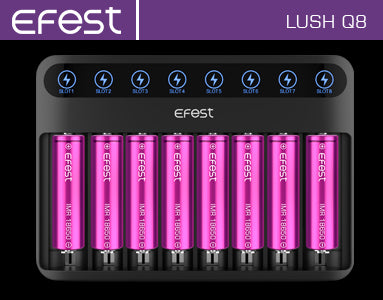 Efest LUSH Q8 Vape Battery Charger
