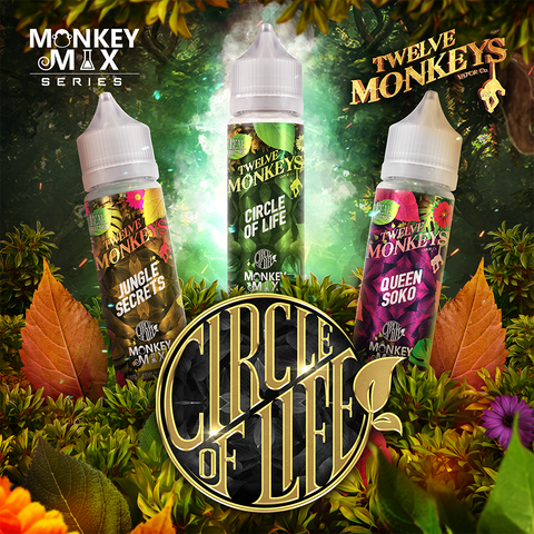 Twelve Monkeys E-Liquids - Circle of Life 50ml Shortfill - Vaping 101 UK's Number 1
