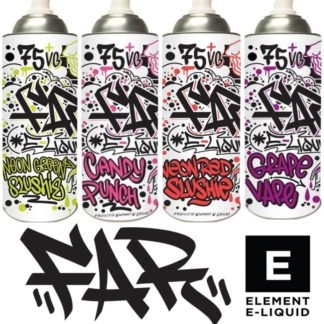 FAR - 100ml Spray Can Shortfill Juice Range by Element Eliquids