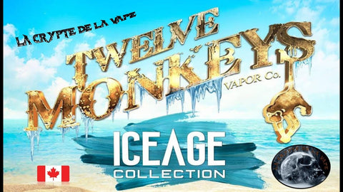 Twelve Monkeys Ice Age E-Liquid 50ml Shortfill Juice Range - Vaping 101 UK's Number 1