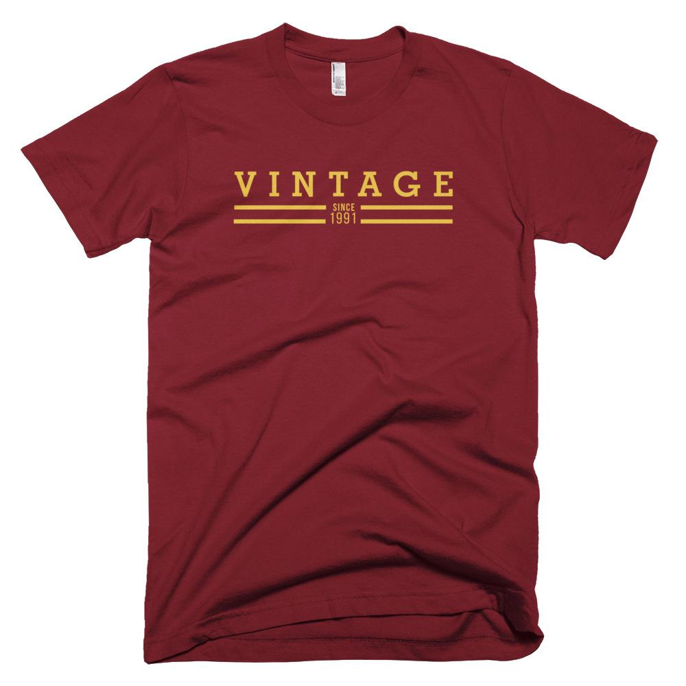 Vintage Since 1991 Cramberry T-shirt (Limited Edition) - The Vintage Society Store