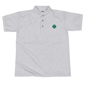 Quadrifoglio Embroidered Polo Shirt - The Vintage Society Store