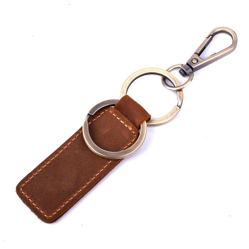 Vintage Genuine Leather Keychain - The Vintage Society Store