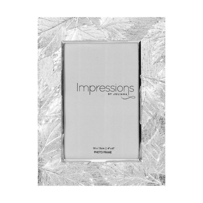 Impressions Silver Plated Leaf Design Photo Frame